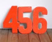 Vintage Small Orange Numbers