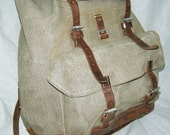 Vintage Salt and Pepper Rucksack Backpack
