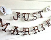 BANNER Just Married Banner Just Married Garland Sign Wedding Day Banner Wedding Bunting Just Married Sign Wedding Reception Decoration