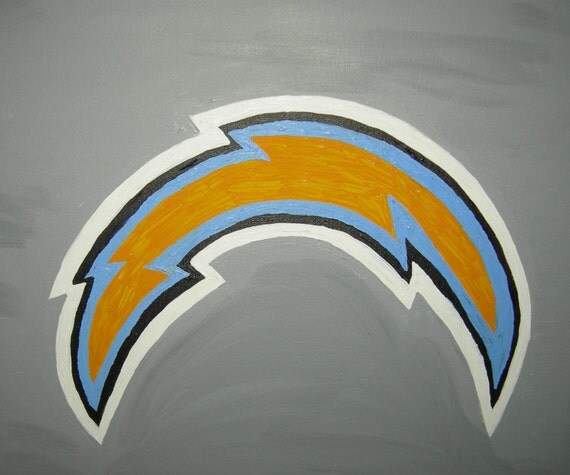 San Diego Chargers Bolt: Items Similar To NFL Lightning Bolt San Diego Chargers