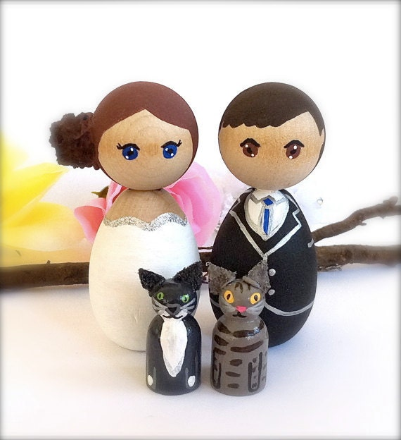 japanese wedding cake toppers items similar to wedding cake toppers with 2 pets 16588