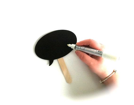 SALE - Chalkboard Marker - For Use With Chalkboard Photo Booth Props - White ChalkBoard Marker Pen