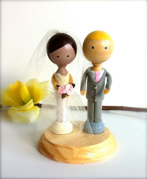 items similar to custom clothespin wedding cake topper