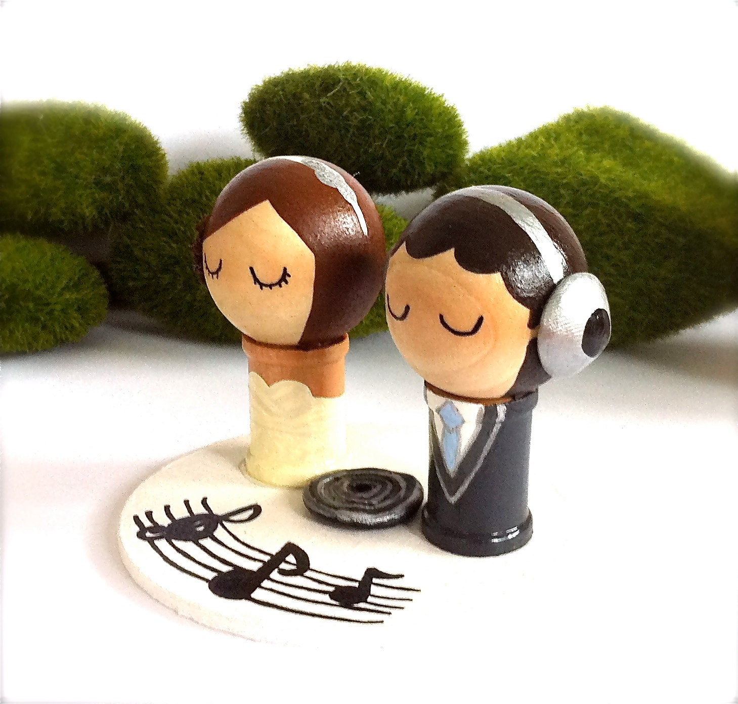 musical wedding cake toppers dj themed wedding cake topper custom by 17665