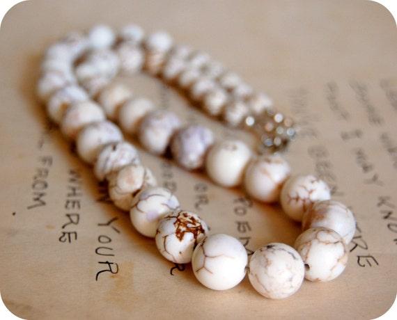 Creamy White Magnesite Necklace