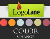 ADD ON: add a COLOR change to your premade logo