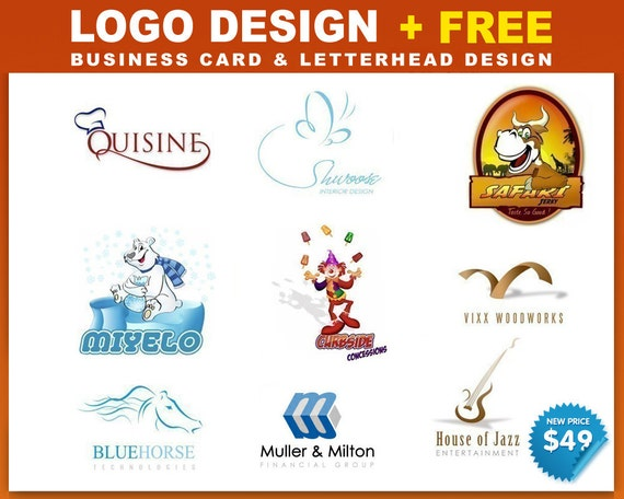 Custom Logo Design - free business card and letterhead design