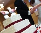 Painted Salt And Pepper Shakers, Wedding Cake Topper- Porcelain Birds