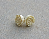 Vintage Tiny Rose Earrings - Many colors