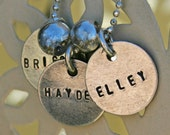Custom sterling silver teeny tags necklace