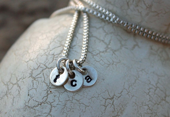 One Sterling Silver Itty Bitty Tags Necklace
