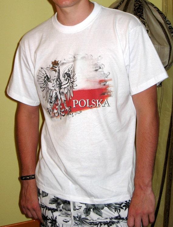 Polish eagle graphic t shirt polish tees polska poland for Polish t shirts online