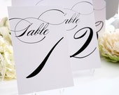 "Table Numbers - Any Color, 5x7"" - For your Wedding or Party"
