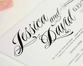 Ravishing Script Wedding Invitations, Purchase this Deposit to Get Started