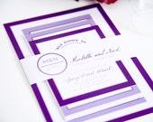 Modern Wedding Invitation - Modern Circle Logo Wedding Invitation - Deposit