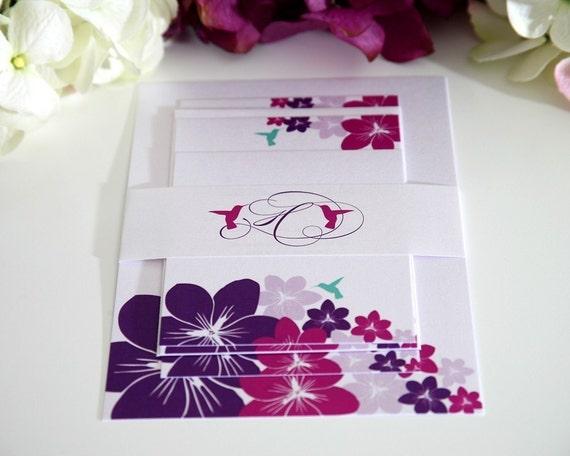 Hummingbird Wedding Invitations: Tropical Hummingbird Wedding Invitations By ShineInvitations