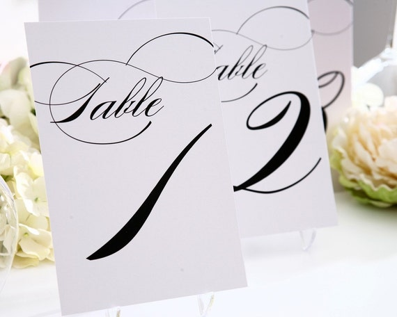 """Table Numbers - Any Color, 5x7"""" - For your Wedding or Party"""