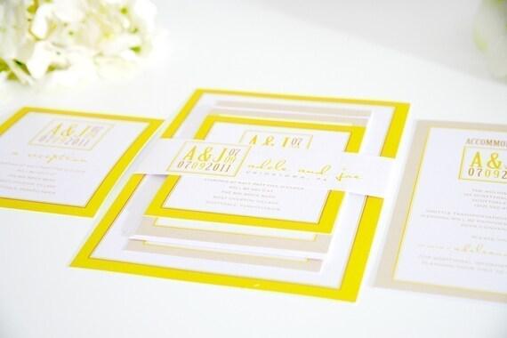 Shine Wedding Invitation: Wedding Invitation Beautiful Bright Modern By ShineInvitations