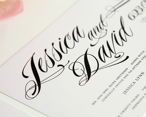Ravishing Script Wedding Invitations, Purchase this Deposit to Get Started