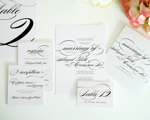 What To Include In A Wedding Invitation Pack: Complete Wedding Invitation Package Branded By