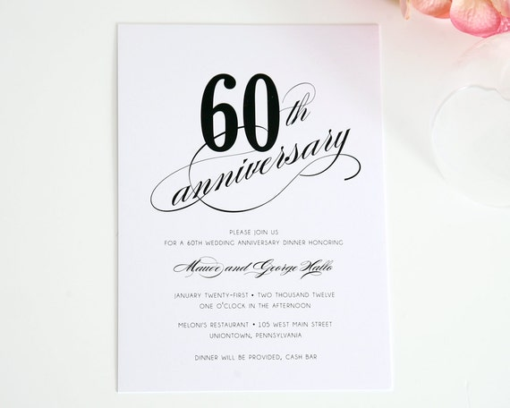60th Wedding Anniversary Invitations Free Templates