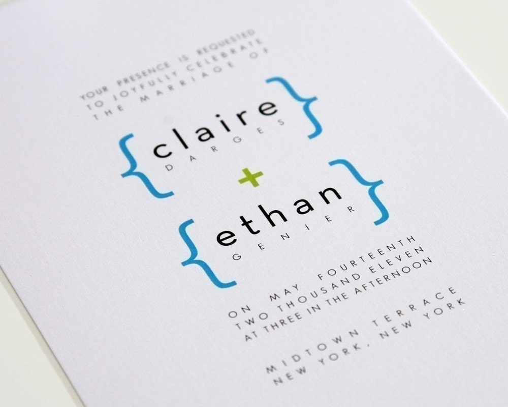 addition of love modern wedding invitations by shineinvitations