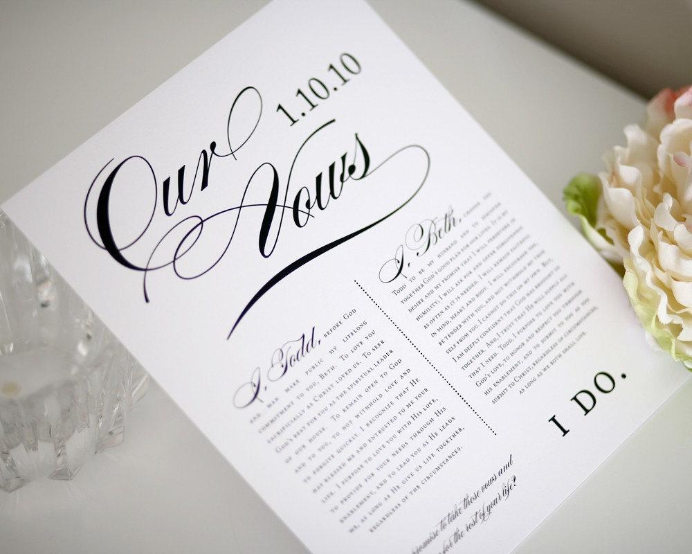 Popular items for wedding vow keepsake on Etsy