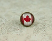 Canadian Flag Tie Tack or Lapel Pin
