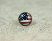 American Flag Tie Tack, Lapel Pin, Stars and Stripes USA