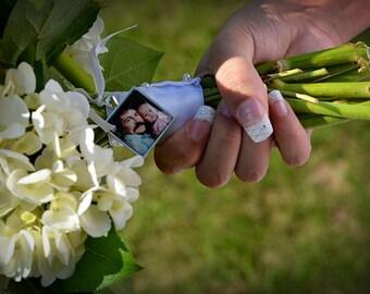 Wedding Bouquet Charm, Memorial Bridal Charm, Custom Photo, Bridal Bouquet Charm, In Loving Memory