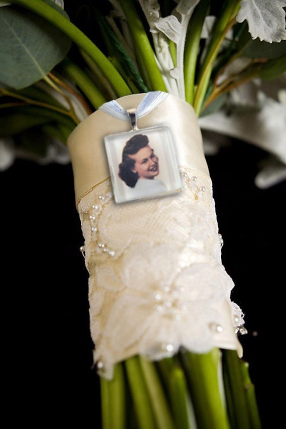 bridal bouquet photo memory charms by kcowie on etsy