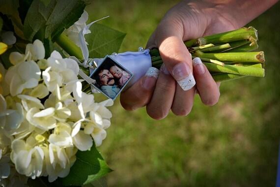 Bridal Bouquet Charm Custom Photo Memorial Charm Wedding Keepsake Personalized