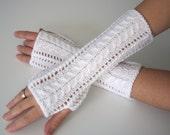 Bridal fingerless gloves / Wedding gauntlets