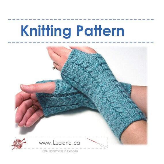 Knitting Expat Etsy : Items similar to knitting pattern fingerless gloves on etsy