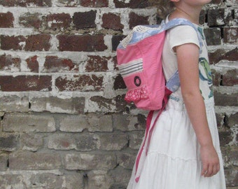 pdf ON-the-GO BACKPACK tutorial and pattern....made from recycling xl jacket