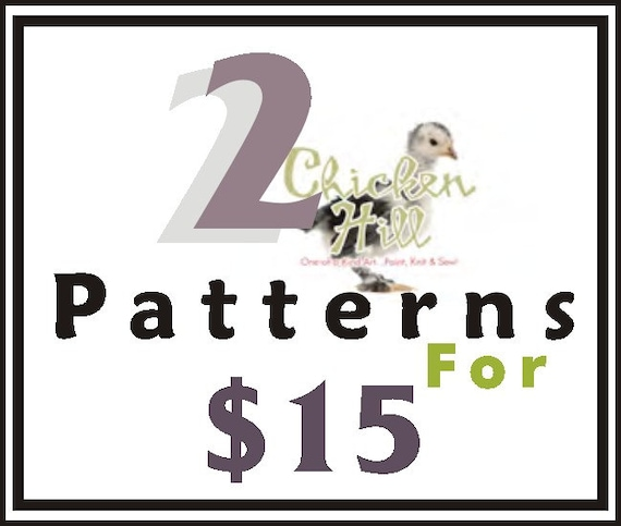 pdf You choose any 2 PATTERNS, pdf, E-Patterns and Detailed Tutorials