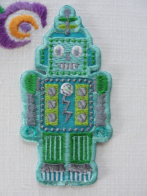 Iron on Patch - Robot