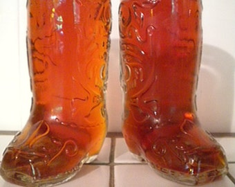 Vintage Set of 2 Cowboy Boot Mugs 12 oz