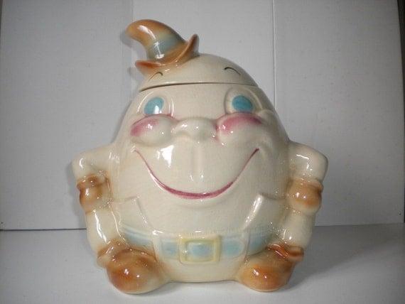 Vintage Brush Pottery Usa Humpty Dumpty Cookie Jar By Winton