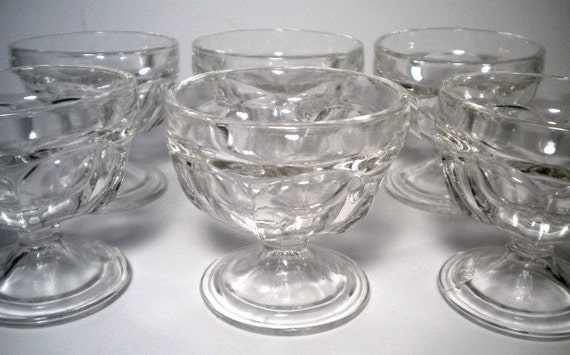 Vintage 50s Federal Glass Sherbet Dishes By Greenerworldvintage