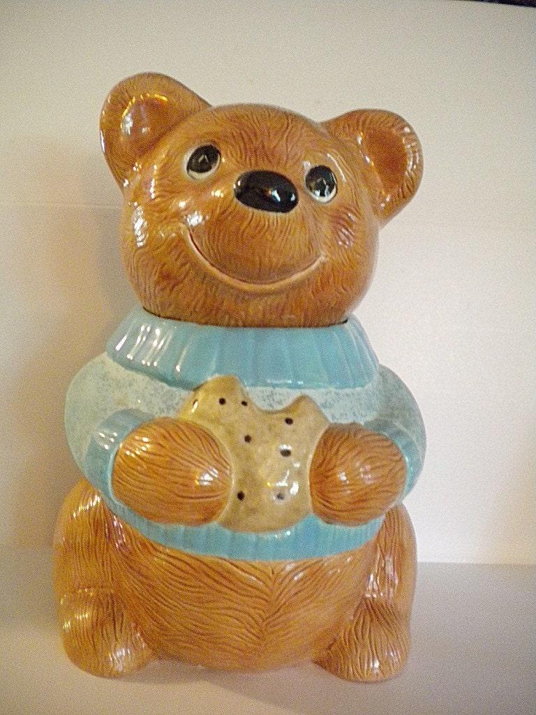 Vintage Teddy Bear Cookie Jar