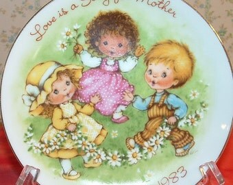Vintage Mothers Day plate