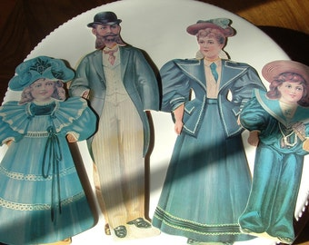 Victorian Family Paper Dolls reproductions made in 1983