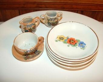 China Tea Set with Lusterware