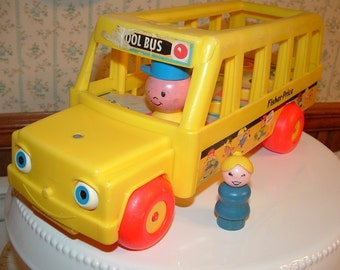 Fisher Price School Bus and Girl