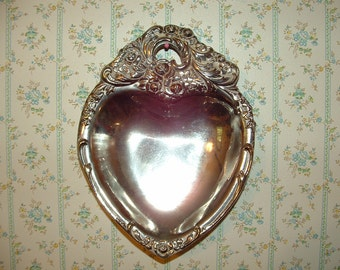 Leonard Silverplate Ornate Heart Dish Tray