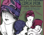 Sew 4 Vintage 1920s FLAPPER CLOCHE Hat e-Patterns (Shirley Set) Pdf