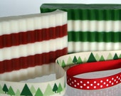 Holly Daze Glycerin Peppermint & Pine Soap Set for Christmas or Birthday Gifts