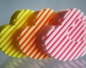Floral Rainbow Glycerin Sweetheart Soap for Wedding Favors, Birthdays or Gifts