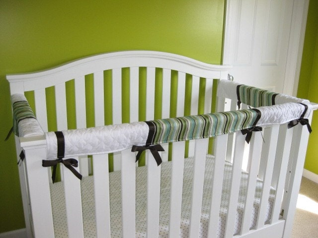 Crib Teething Guards For Convertible Cribs 3pc Green Blue